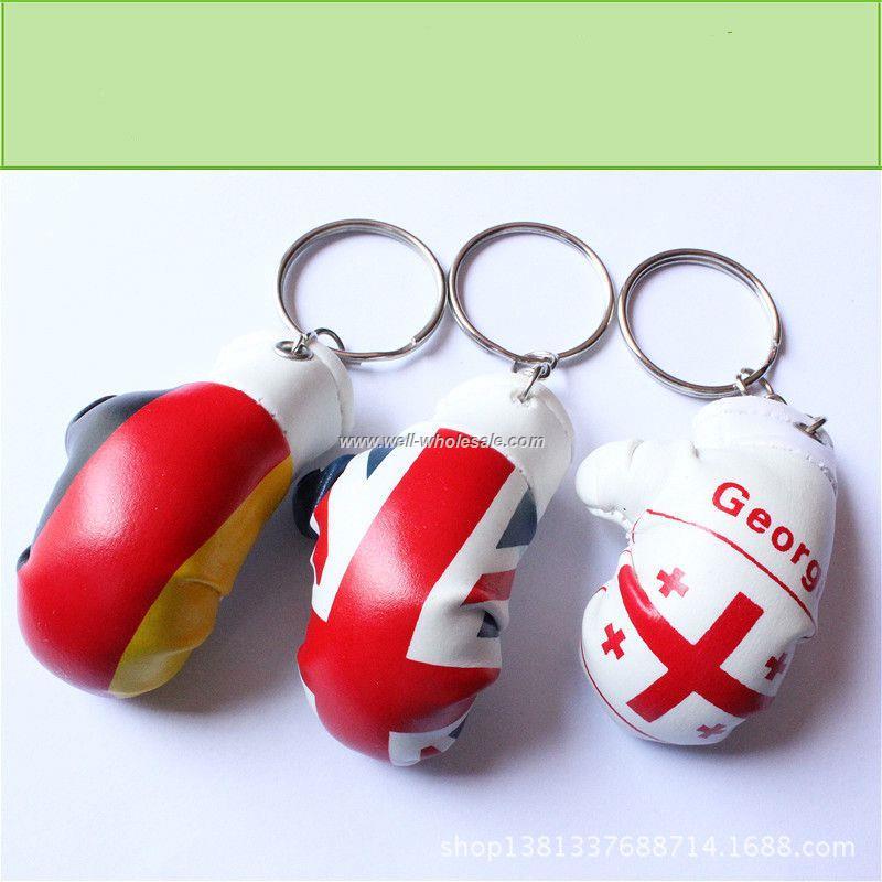 promotion custom mini boxing gloves keychain