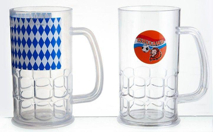 17 oz Plastic Beer Mug custom logo