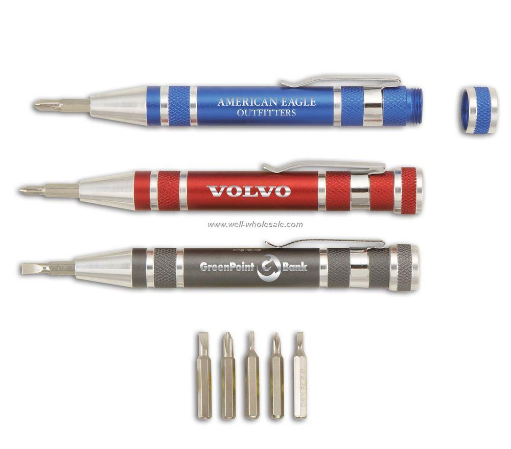 9 in 1 Pen Style Screwdriver Tool Set