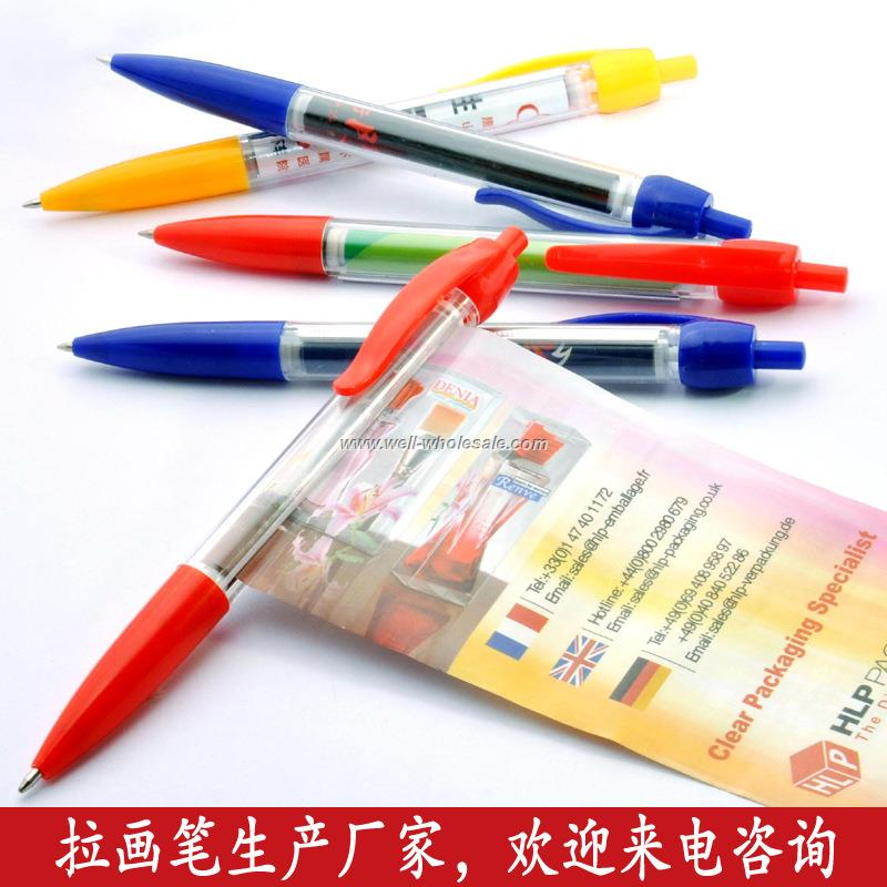 retractable banner pens,pull out banner pen,banner pen