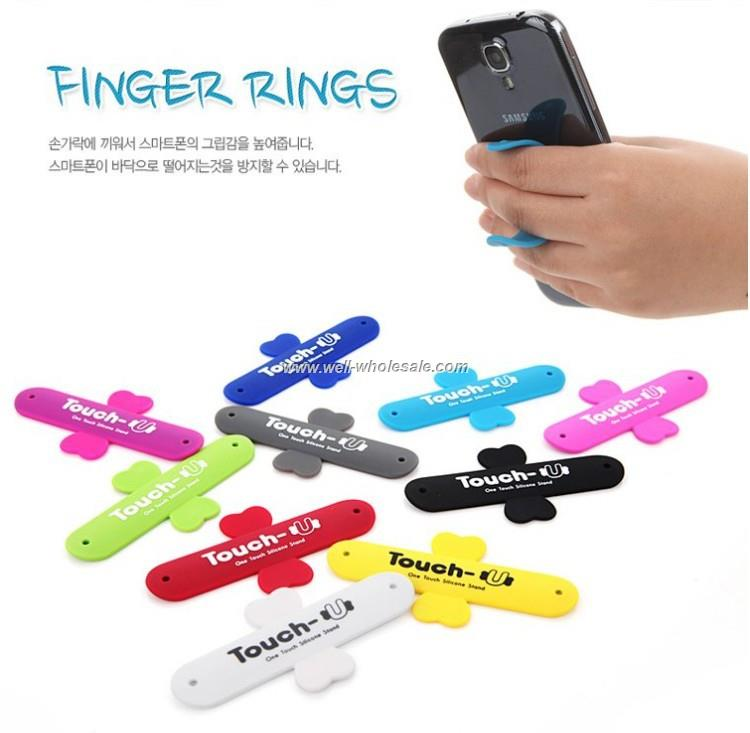 Universal Touch U Silicone Mobile Cell Phone Stand Holder for Smartphone