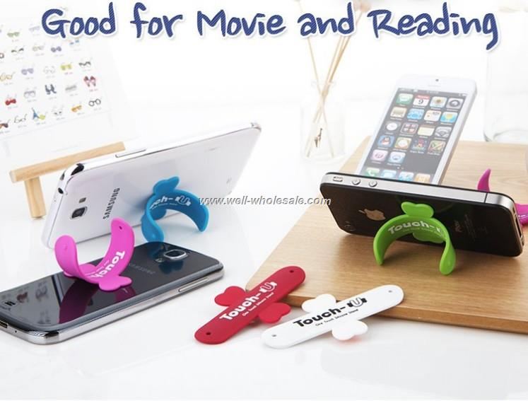 Unique mobile phone silicone holder stand ,silicone phone holder
