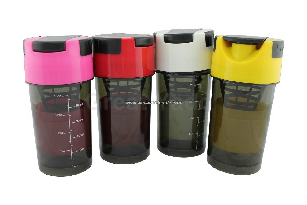 Blender Mixer Bottle Protein Shaker CUP Sports Water Bottle 600ml/20 oz