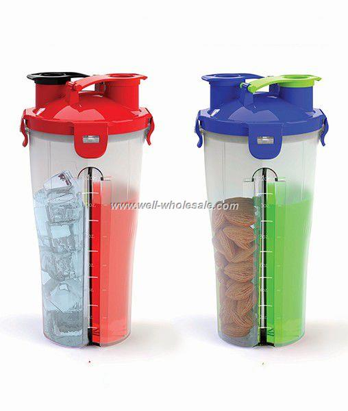 Dual Shaker Cup/Sports Bottle/Shaker Cup