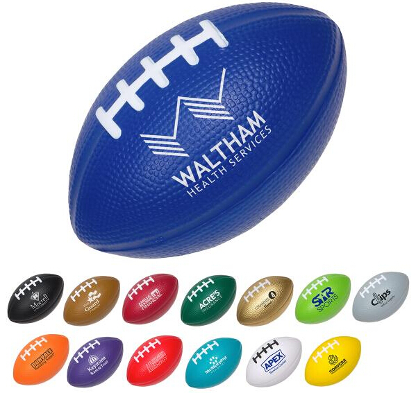 Small Football Stress Reliever with Logo for promotion and anti stress
