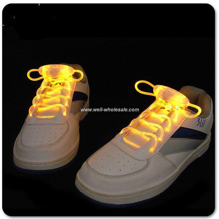 custom led flashing dancing shoe laces