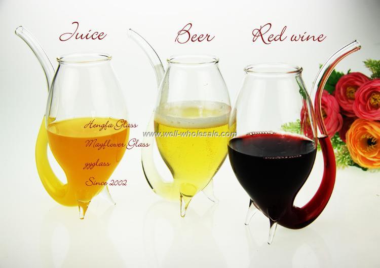 glass vampire wine cup