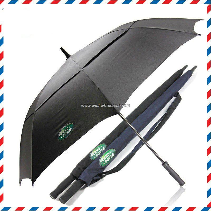 advertising big golf umbrella with black golf umbrella