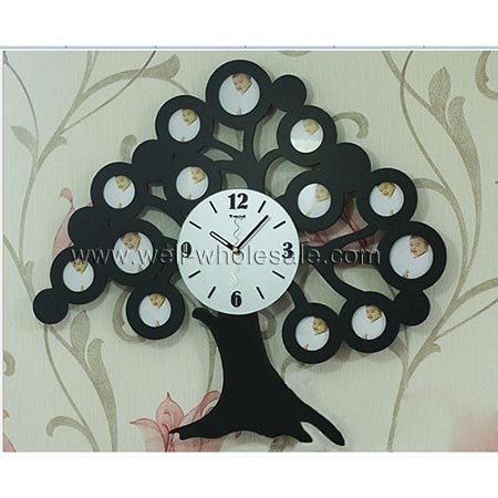 Tree shape clock,novelty wall clock