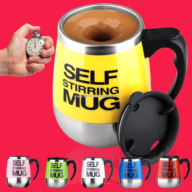 Stainless Steel Coffee Mixing Cup Self Stirring Mug