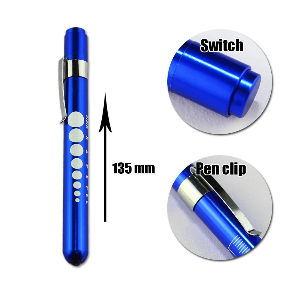 Alloy Doctor Nurse Pupil Gauge Diagnostic Medical Penlight Pen light Neuro Torch