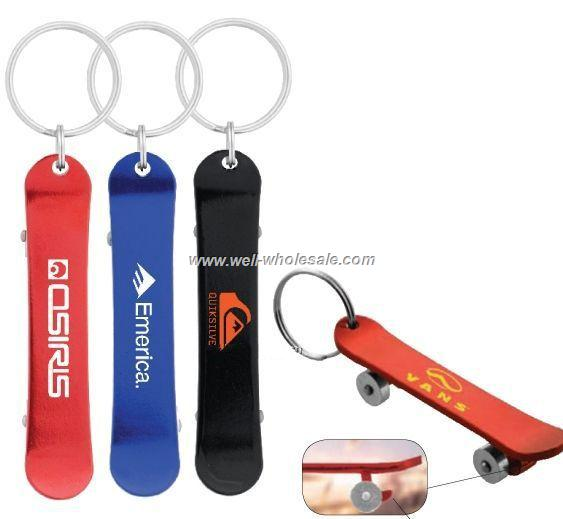 Promotional metal skateboard keychain