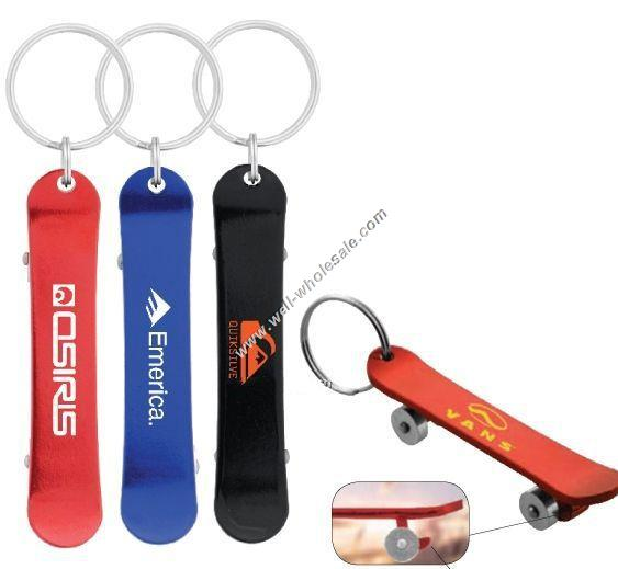 Skateboard Bottle Opener Key Chain