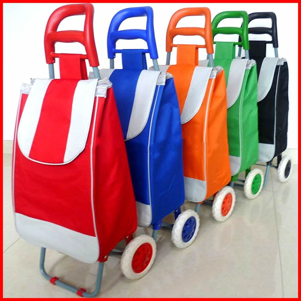 Shopping trolley bag, Folding wheeled festival shopping trolley