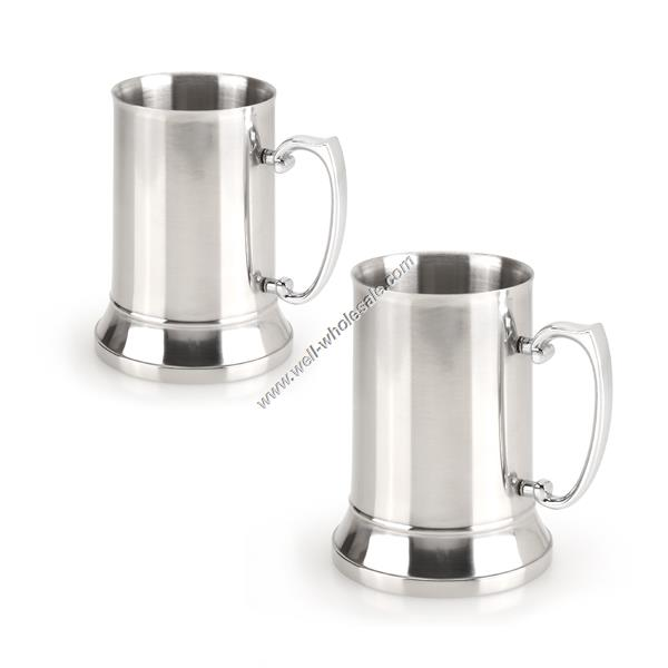 16/18OZ Double wall metal stainless steel beer mug