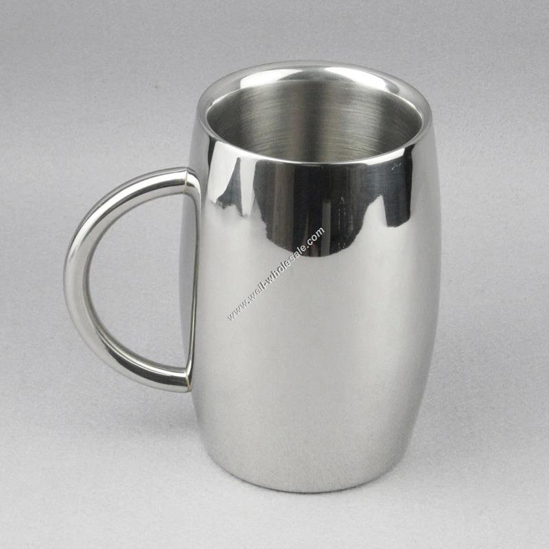 Double Wall Stainless Steel Beer Mugs