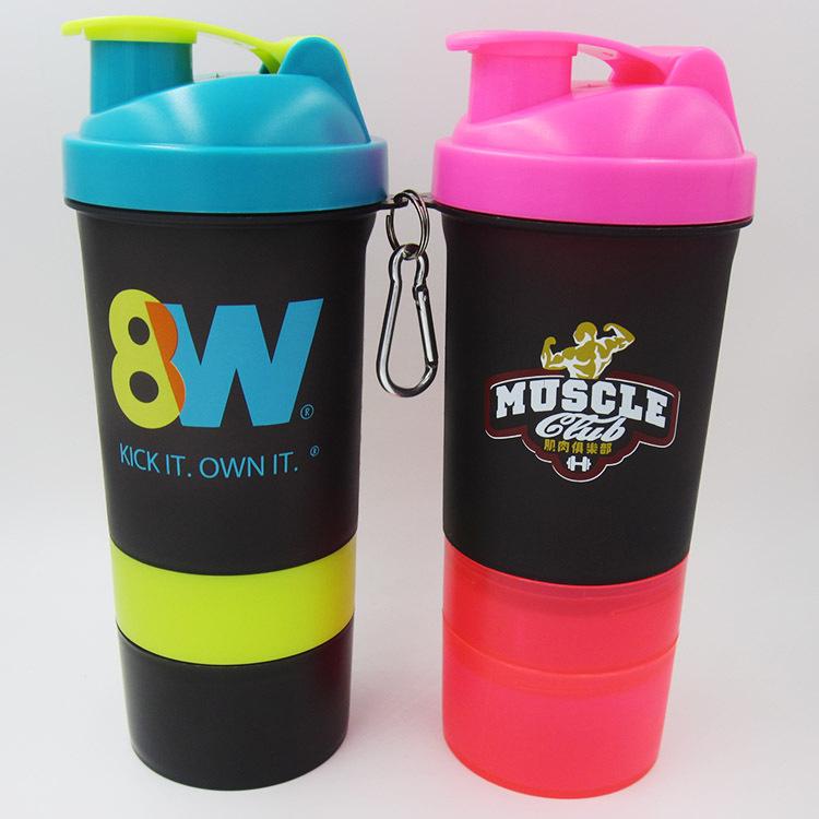 Blender custom logo shaker bottle 22 oz.plastic shaker bottle with logo printing