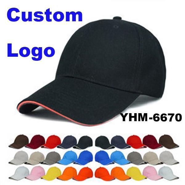 OEM Promotional Logo Printed Cheap Custom High Quality 6 Panels Baseball Cap