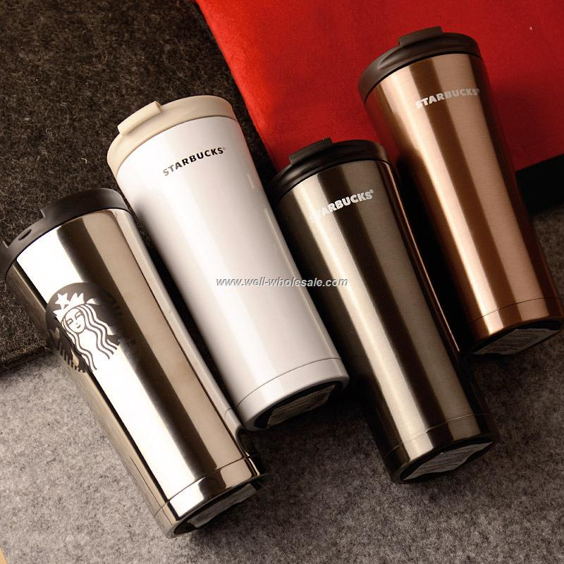 304 Stainless Steel Starbucks Mug Healthy 500ml Coffee Mug Car Vacuum Cup