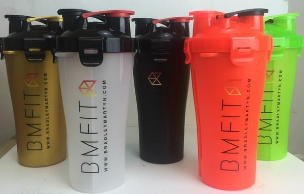Protein Dual Shaker Bottle Cup,Dual Shaker Sports Water Bottle