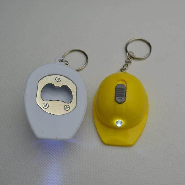 Custom Hat Shaped Bottle Opener Led Light Keychain