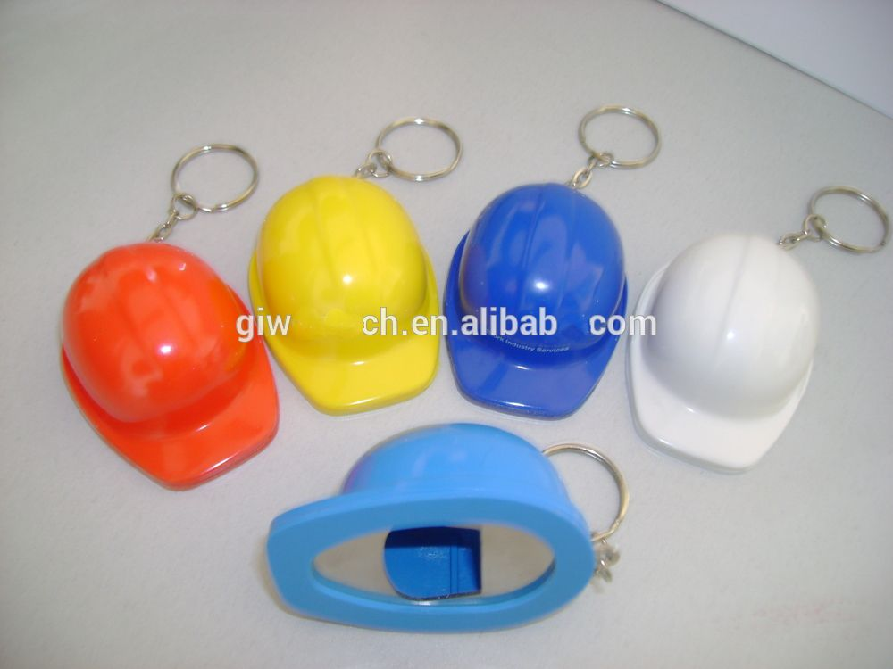 Factory price hat shaped keychain beer bottle opener