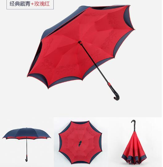 Double Layered Design Reverse Umbrella