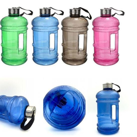 2.2L Large Capacity Water Bottles Outdoor Sports Dumbbell Bottle