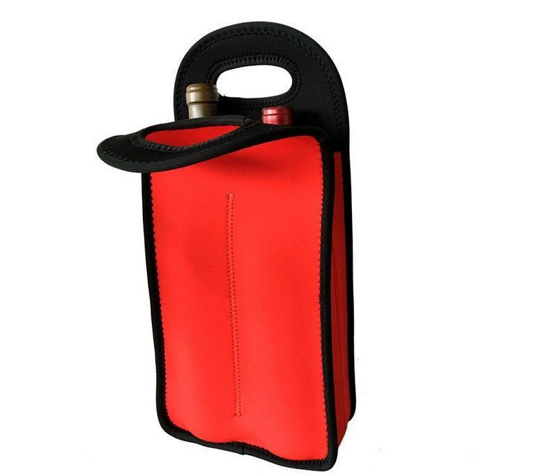 Customized portable neoprene wine cooler bags