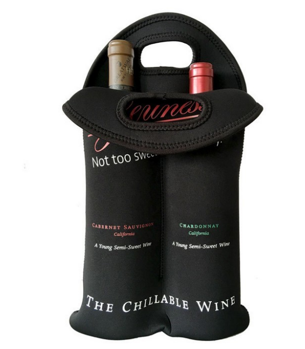 Customized portable neoprene 2 Bottle wine cooler bags