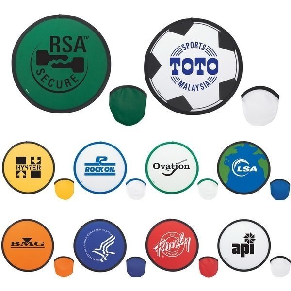 promotional Printed Logo Nylon Fold-Up Flying Disc