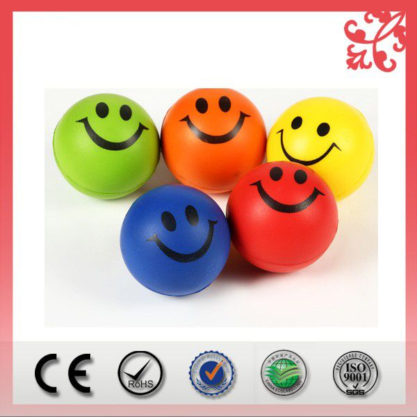 Eco friendly round shape custom print logo PU stress ball