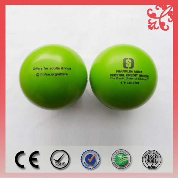 custom logo pu foam round stress ball
