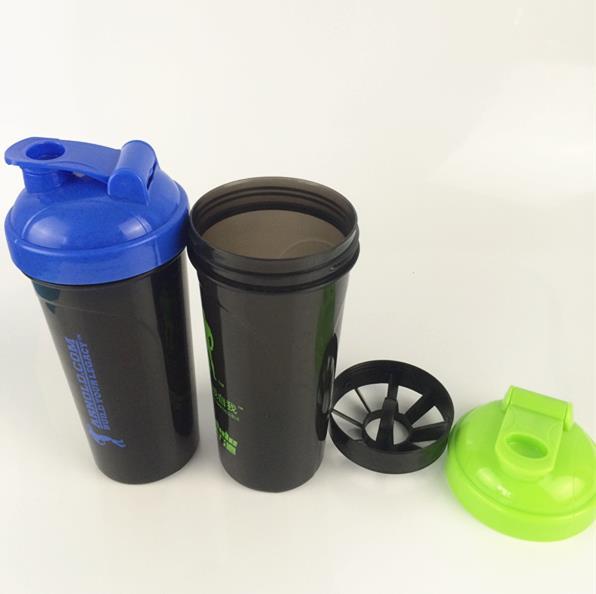 blender protein shaker bottle 700ml sport plastic water bottle