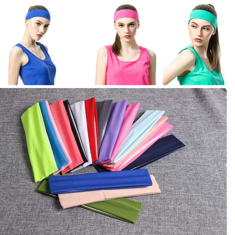 Wholesale head rainbow custom sweatband headband wristbands wrist sweat band