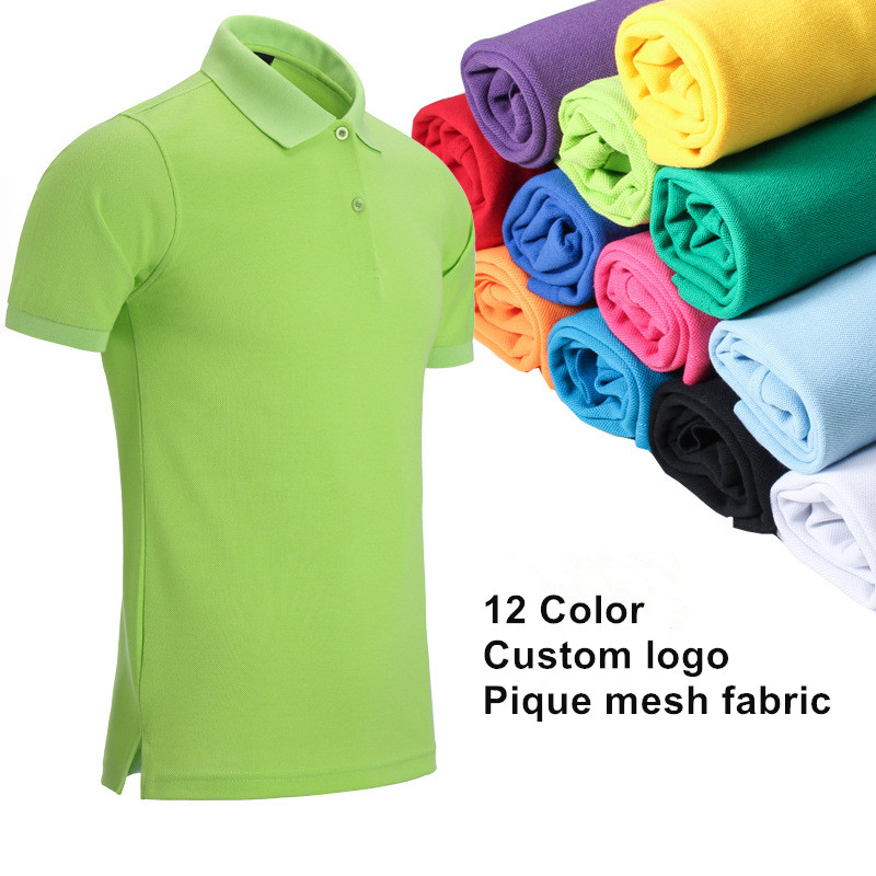 custom logo pique mesh cotton fabric mens polo t shirt