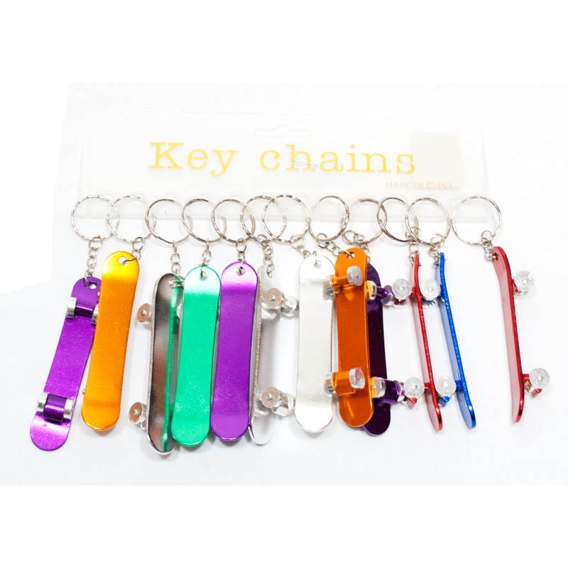 Customized Own Logo Metal Skateboard bottle Opener key chain