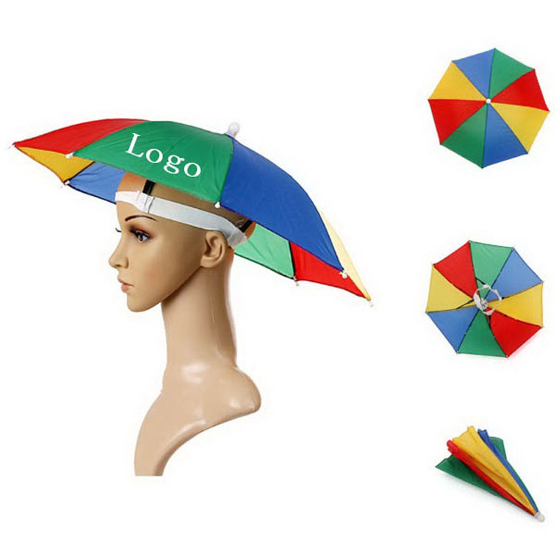 customized promotion logo printed sun umbrella hat