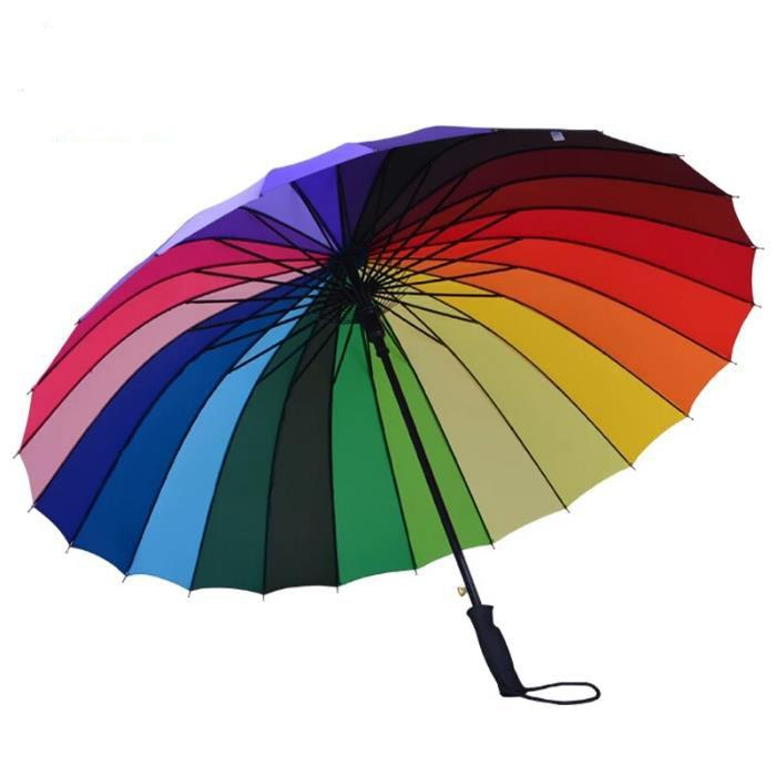 Rainbow beach umbrella,rainbow color umbrella