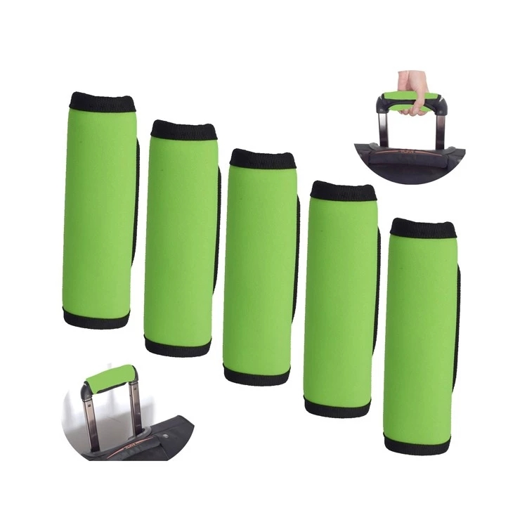 Luggage Suitcase Travel Bag Protective Handle Wrap Grip Identifier Neoprene Light Green