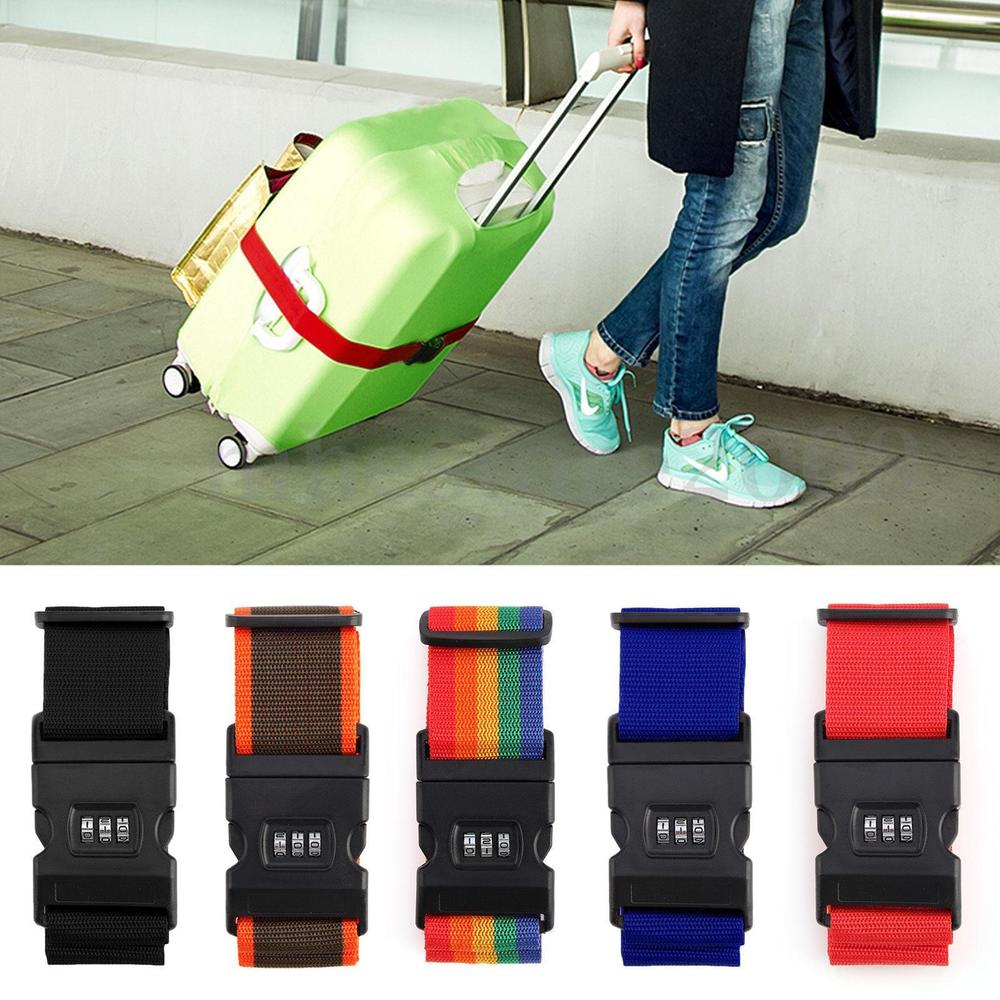 Custom Lockable Travel Luggage Suitcase Strap Belt