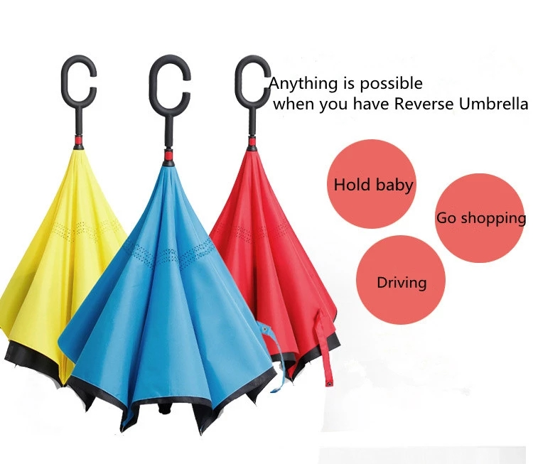 Professional manufacture cheap double canopy reverse umbrella