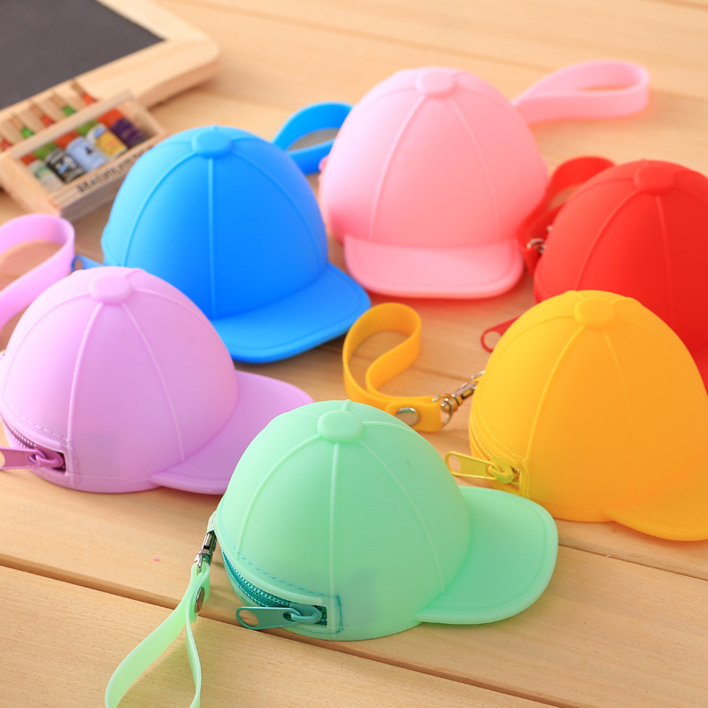 Creative Cute Mini Bag Coin Purse Silicone Coin Bag Baseball Cap Bag