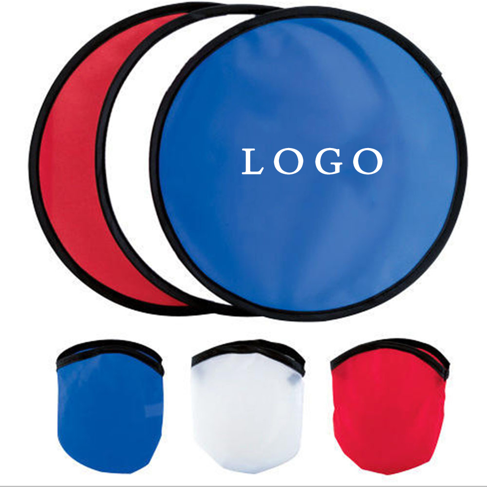 custom Nylon Polyester Folding Custom Foldable Frisbee