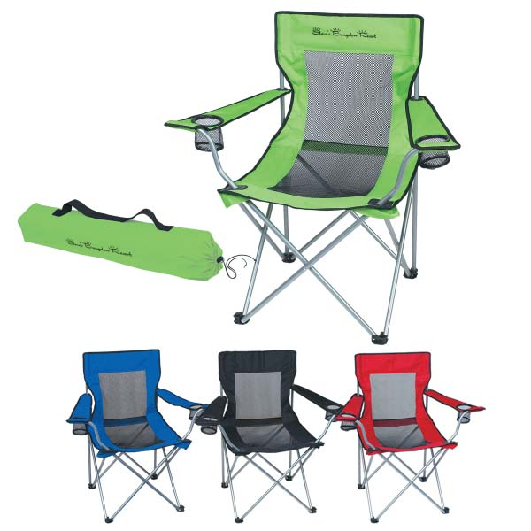 Portable Folding Mesh Chair With Carrying Bag outdoor folding chair