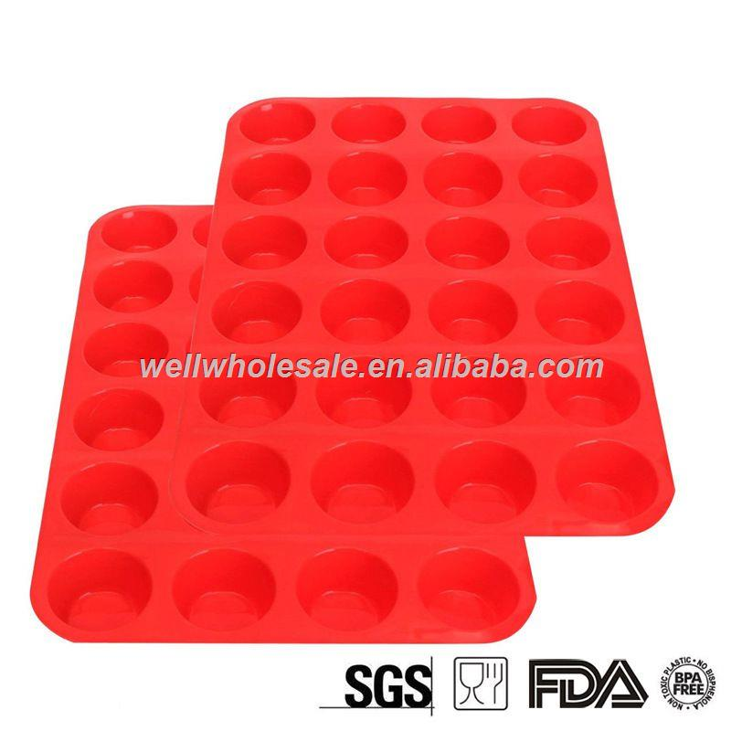 24 cup silicone muffin pan