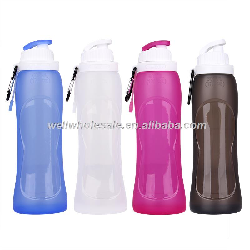 Wholesale Silicone Collapsible Water Bottle