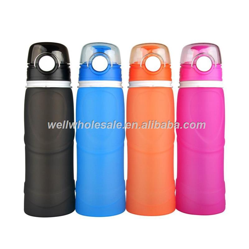 silicone Foldable water Bottle Collapsible Water Bottle