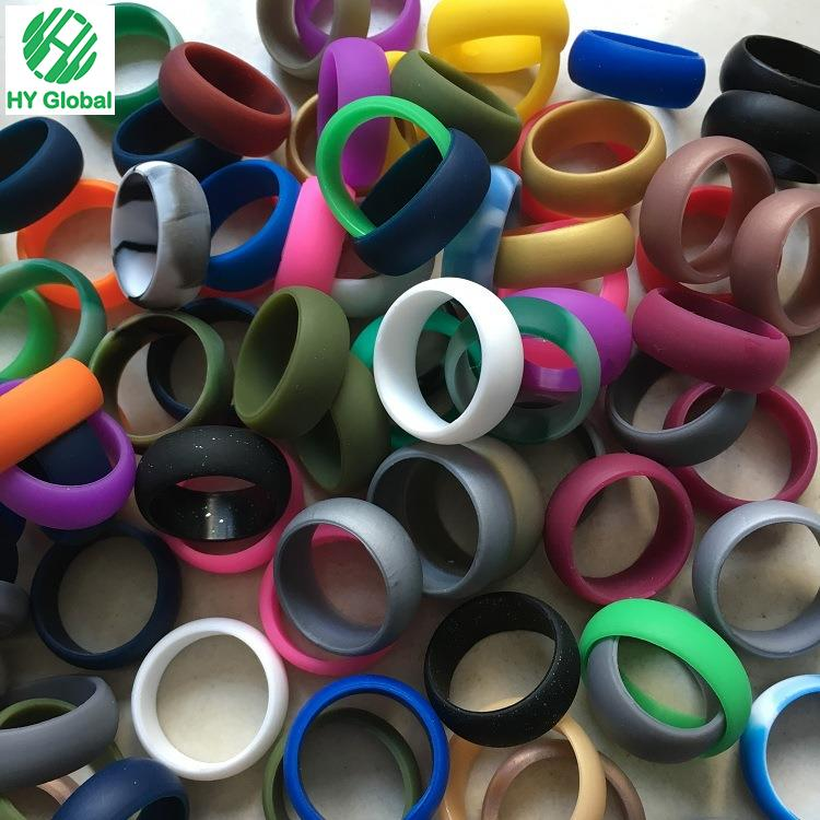 Custom Silicone Wedding Rubber Finger Ring For Men Sports