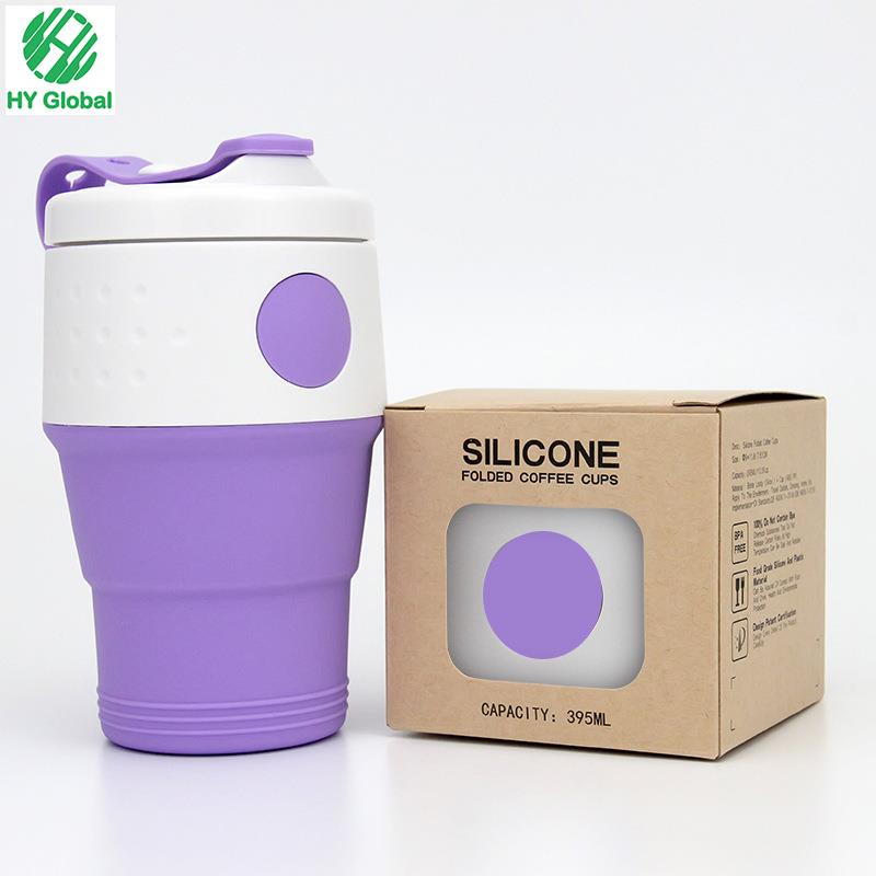 Silicone Collapsible 350ml Coffee Cups